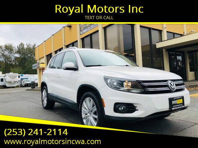 2012 Volkswagen Tiguan for sale at Royal Motors Inc in Kent WA