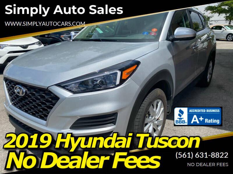 2019 Hyundai Tucson for sale at Simply Auto Sales in Palm Beach Gardens FL