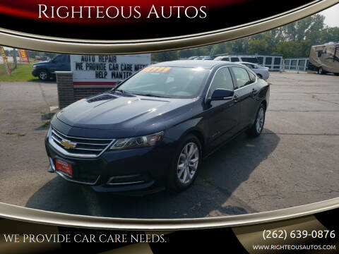 2018 Chevrolet Impala for sale at Righteous Autos in Racine WI