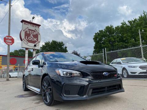 2018 Subaru WRX for sale at Matthew's Stop & Look Auto Sales in Detroit MI