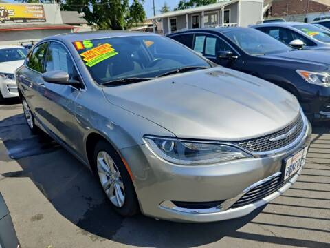 2015 Chrysler 200 for sale at Rey's Auto Sales in Stockton CA
