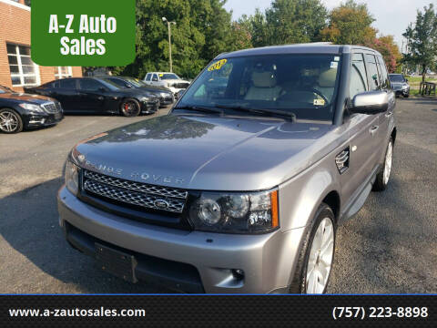 2013 Land Rover Range Rover Sport for sale at A-Z Auto Sales in Newport News VA