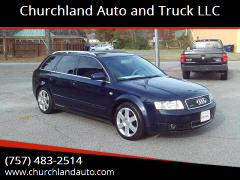 2004 Audi A4 for sale at Churchland Auto and Truck LLC in Portsmouth VA
