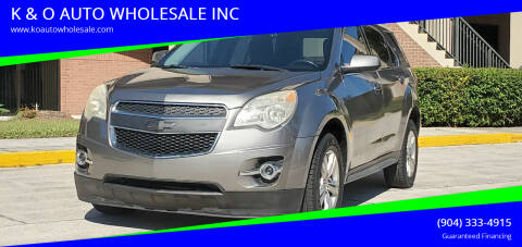 2012 Chevrolet Equinox for sale at K & O AUTO WHOLESALE INC in Jacksonville FL