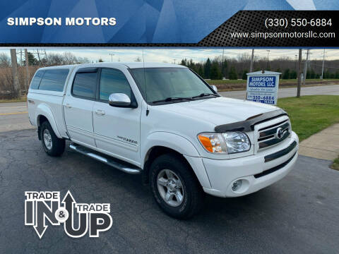 2006 Toyota Tundra for sale at SIMPSON MOTORS in Youngstown OH