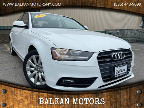 2014 Audi A4 for sale at BALKAN MOTORS in East Rochester NY