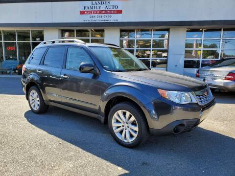 2011 Subaru Forester for sale at Landes Family Auto Sales in Attleboro MA