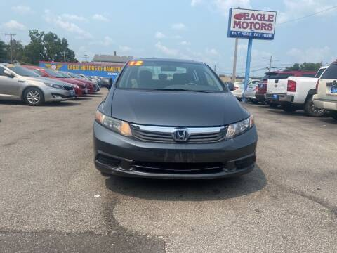 2012 Honda Civic for sale at Eagle Motors in Hamilton OH