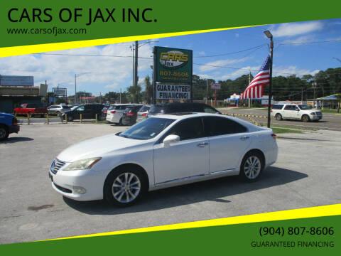 2012 Lexus ES 350 for sale at CARS OF JAX INC. in Jacksonville FL