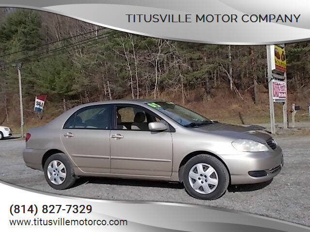 2005 Toyota Corolla for sale at Titusville Motor Company in Titusville PA