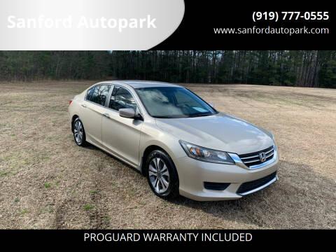 2013 Honda Accord for sale at Sanford Autopark in Sanford NC