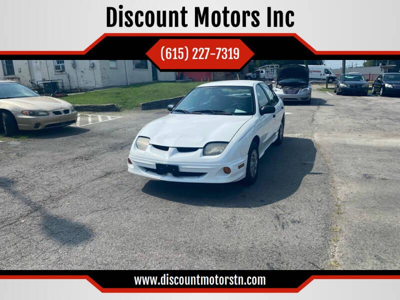 2001 Pontiac Sunfire for sale at Discount Motors Inc in Nashville TN