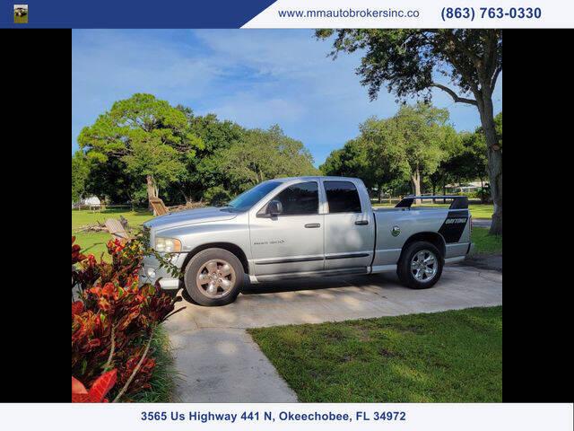 2005 Dodge Ram Pickup 1500 for sale at M & M AUTO BROKERS INC in Okeechobee FL