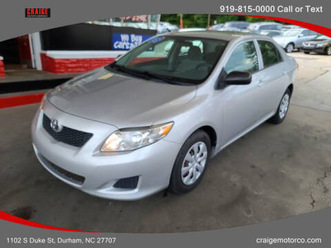 2009 Toyota Corolla for sale at CRAIGE MOTOR CO in Durham NC