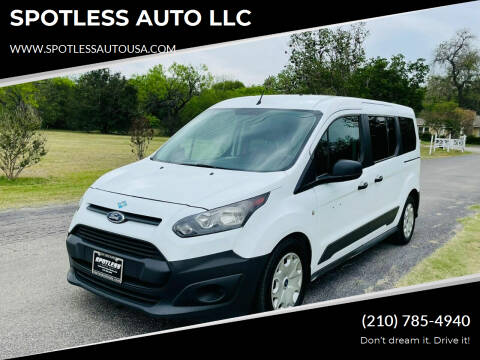2015 Ford Transit Connect Wagon for sale at SPOTLESS AUTO LLC in San Antonio TX