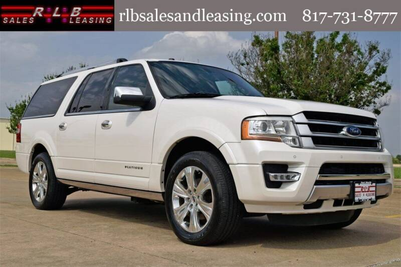 2015 Ford Expedition EL for sale at RLB Sales and Leasing in Fort Worth TX