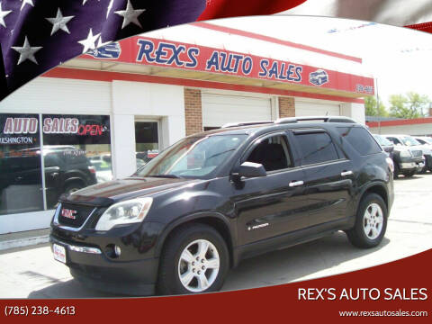2008 GMC Acadia for sale at Rex's Auto Sales in Junction City KS