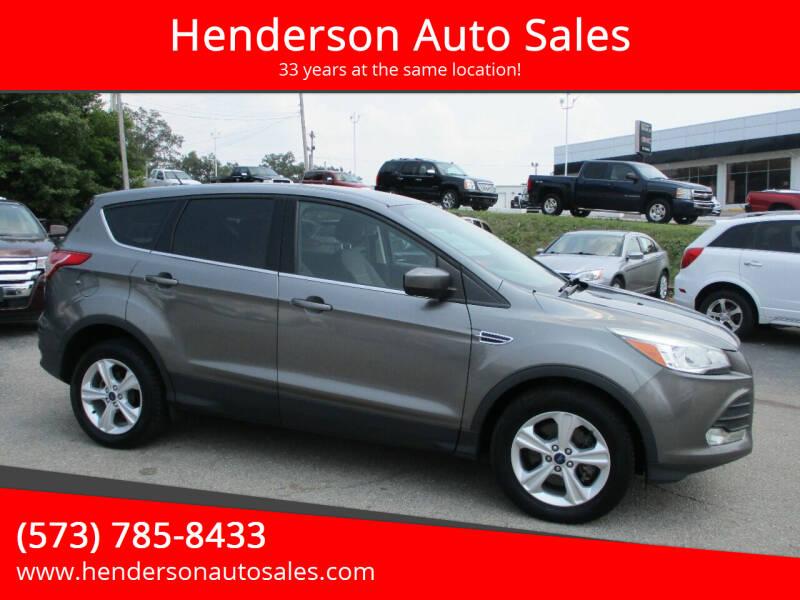 2014 Ford Escape for sale at Henderson Auto Sales in Poplar Bluff MO
