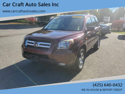2007 Honda Pilot for sale at Car Craft Auto Sales Inc in Lynnwood WA