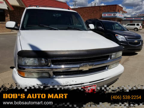 2004 Chevrolet Tahoe for sale at BOB'S AUTO MART in Lewistown MT