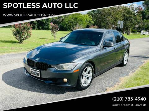 2014 BMW 3 Series for sale at SPOTLESS AUTO LLC in San Antonio TX