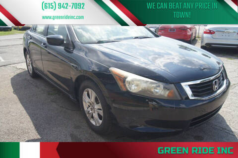 2008 Honda Accord for sale at Green Ride Inc in Nashville TN