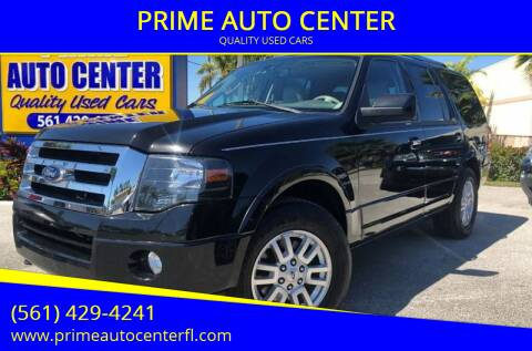 2012 Ford Expedition for sale at PRIME AUTO CENTER in Palm Springs FL