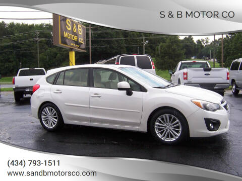 2012 Subaru Impreza for sale at S & B MOTOR CO in Danville VA