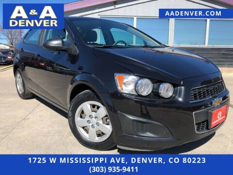 2013 Chevrolet Sonic for sale at A & A AUTO LLC in Denver CO