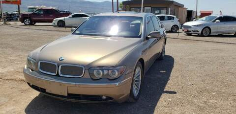 2004 BMW 7 Series for sale at Bickham Used Cars in Alamogordo NM