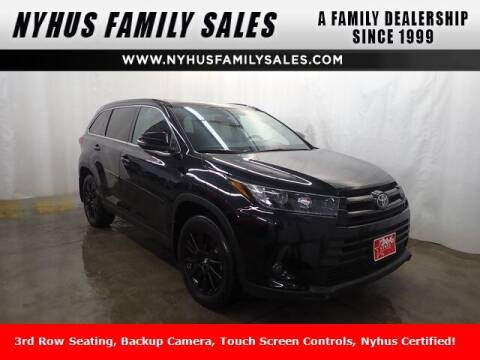 2019 Toyota Highlander for sale at Nyhus Family Sales in Perham MN