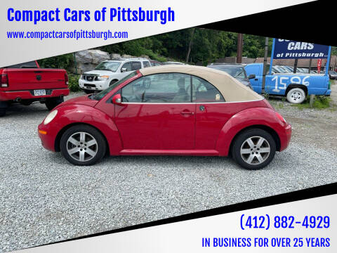 2006 Volkswagen New Beetle Convertible for sale at Compact Cars of Pittsburgh in Pittsburgh PA