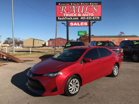 2017 Toyota Corolla for sale at RAUL'S TRUCK & AUTO SALES, INC in Oklahoma City OK