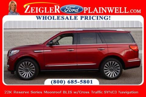 2019 Lincoln Navigator for sale at Zeigler Ford of Plainwell- Jeff Bishop in Plainwell MI