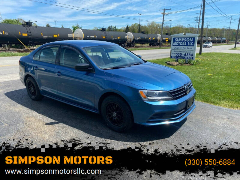 2016 Volkswagen Jetta for sale at SIMPSON MOTORS in Youngstown OH