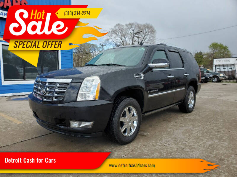2007 Cadillac Escalade for sale at Detroit Cash for Cars in Warren MI