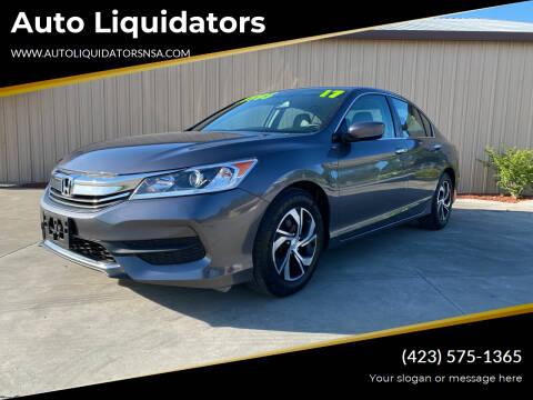 2017 Honda Accord for sale at Auto Liquidators in Bluff City TN