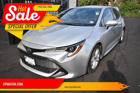 2019 Toyota Corolla Hatchback for sale at ZIPMOTOR.COM in Arlington VA