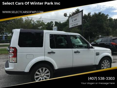 2011 Land Rover LR4 for sale at Select Cars Of Winter Park Inc in Orlando FL