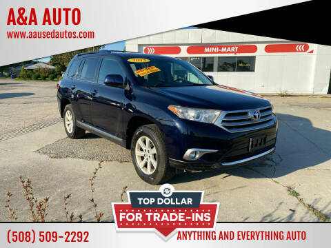 2012 Toyota Highlander for sale at A&A AUTO in Fairhaven MA