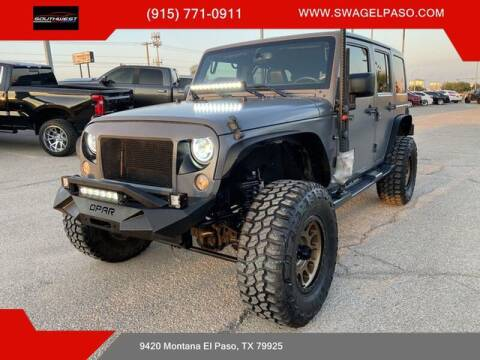 2015 Jeep Wrangler Unlimited for sale at SOUTHWEST AUTO GROUP-EL PASO in El Paso TX