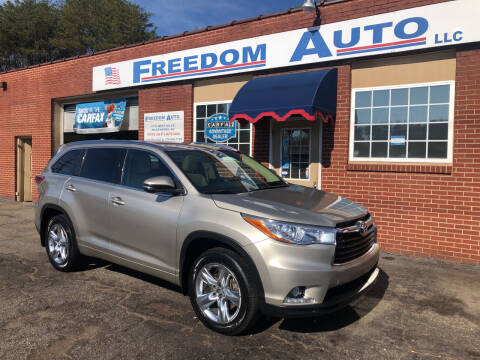 2016 Toyota Highlander for sale at FREEDOM AUTO LLC in Wilkesboro NC