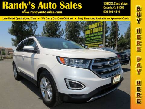 2017 Ford Edge for sale at Randy's Auto Sales in Ontario CA