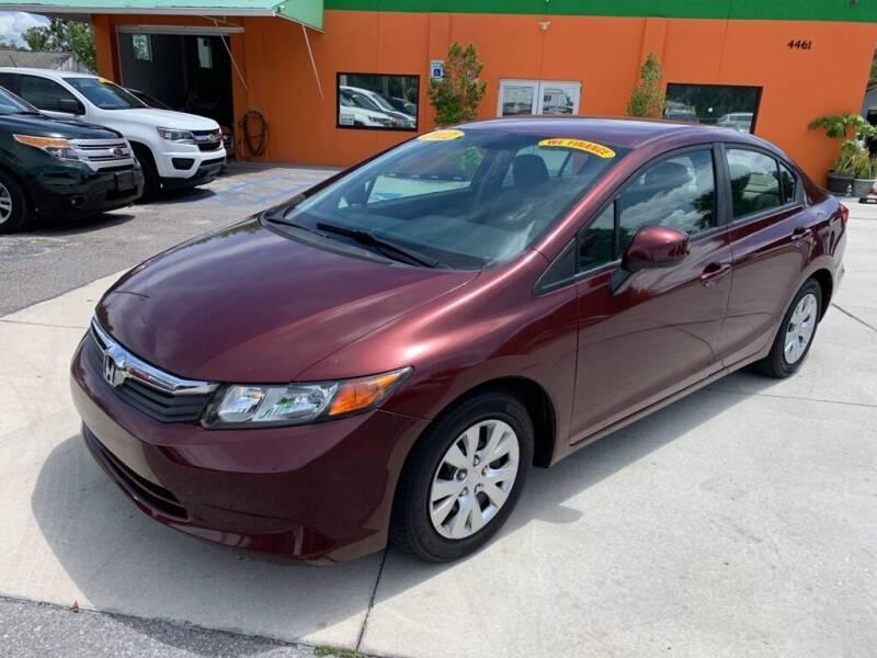 2012 Honda Civic for sale at Galaxy Auto Service, Inc. in Orlando FL