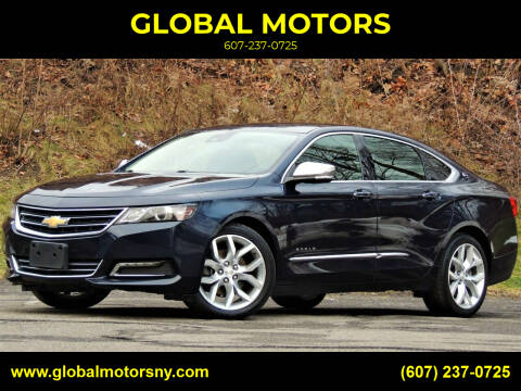 2017 Chevrolet Impala for sale at GLOBAL MOTORS in Binghamton NY