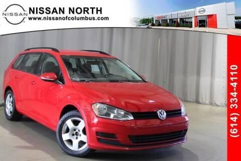 2017 Volkswagen Golf SportWagen for sale at Auto Center of Columbus in Columbus OH