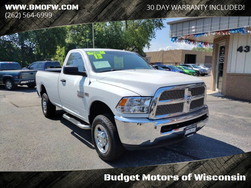 2013 RAM Ram Pickup 2500 for sale at Budget Motors of Wisconsin in Racine WI