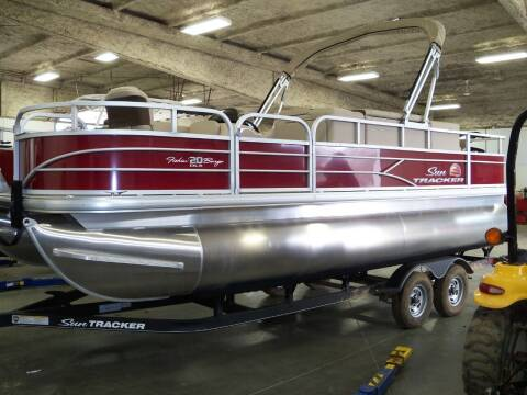 2021 SUNTRACKER FISHIN BARGE 20 FT for sale at Tyndall Motors in Tyndall SD
