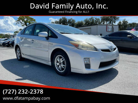 2010 Toyota Prius for sale at David Family Auto, Inc. in New Port Richey FL