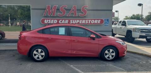 2016 Chevrolet Cruze for sale at MSAS AUTO SALES in Grand Island NE